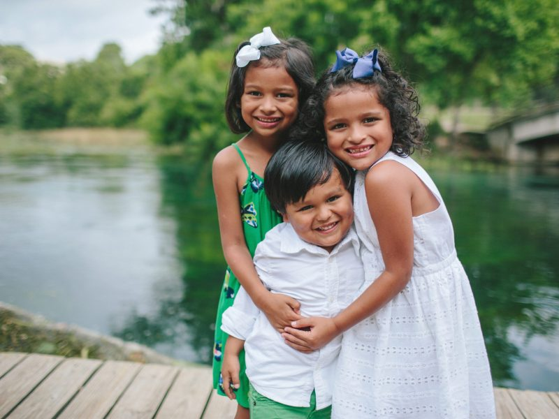 Young children who have been beneficiaries of CASA's services.