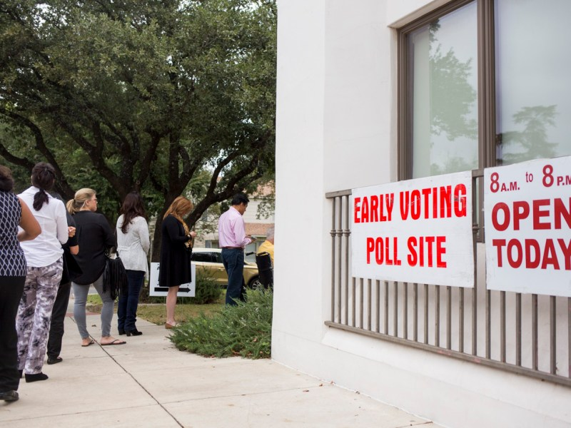 Early Voting site at Olmos City Hall.