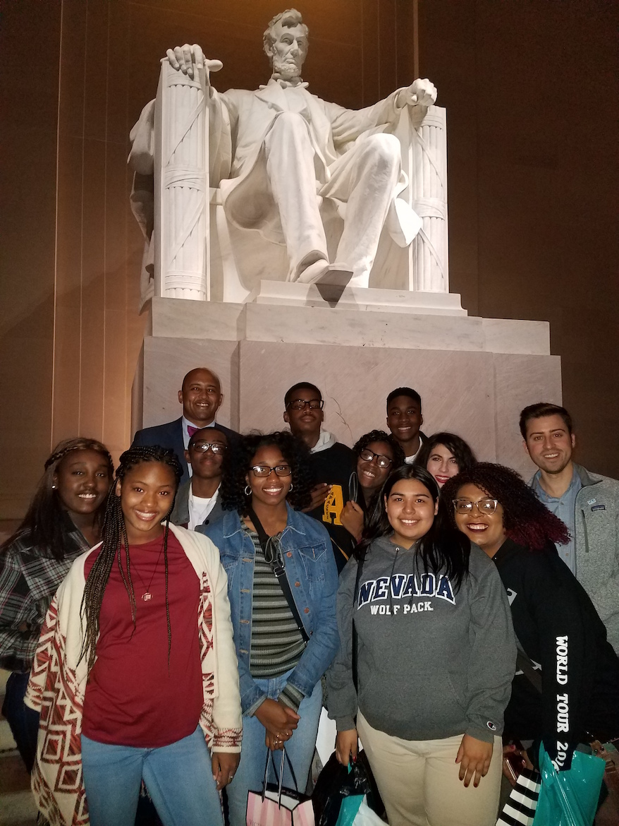 Dreamers at the Lincoln Memorial.