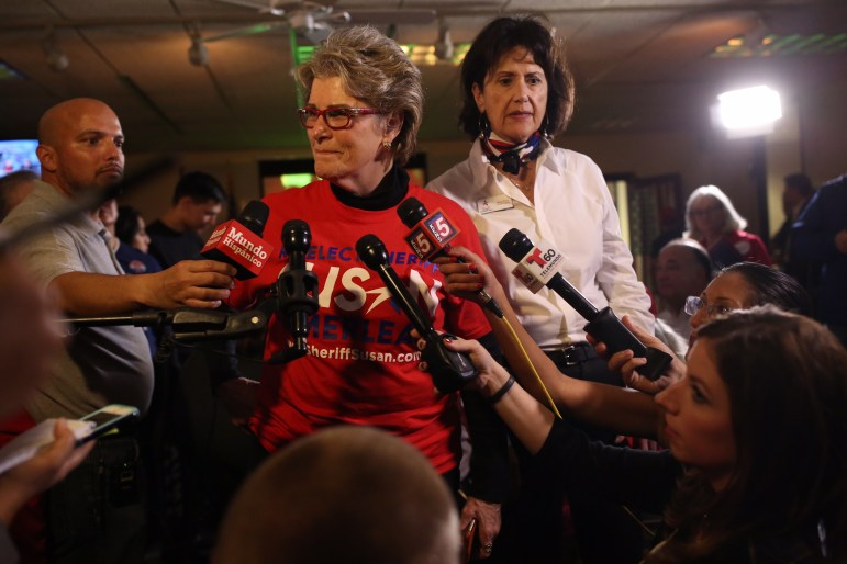 Sheriff Susan Pamerleau acknowledged that Salazar surpassed her, but would not concede.