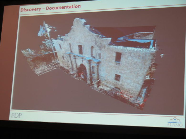 A three-dimentional model of the Alamo made by the design team for the Alamo Master Plan.