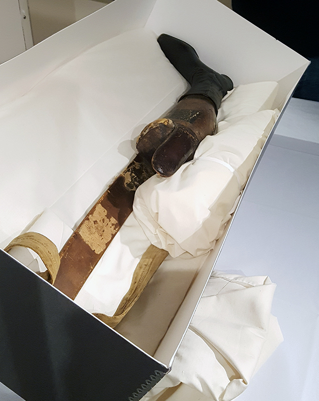 General Santa Anna's prosthetic leg, housed at the Illinois State Military Museum in Springfield, Illinois.
