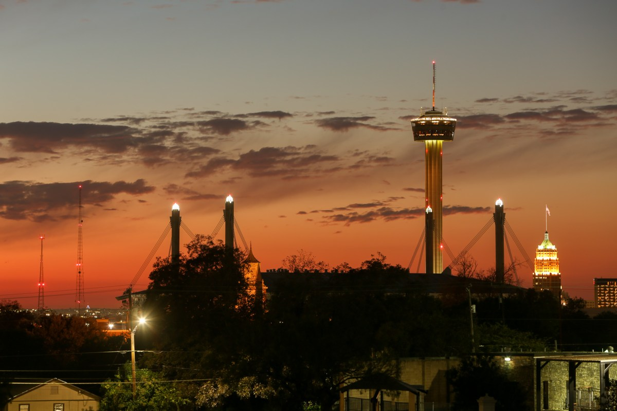 The view of downtown San Antonio from Pittman-Sullivan Park on the City's Eastside.
