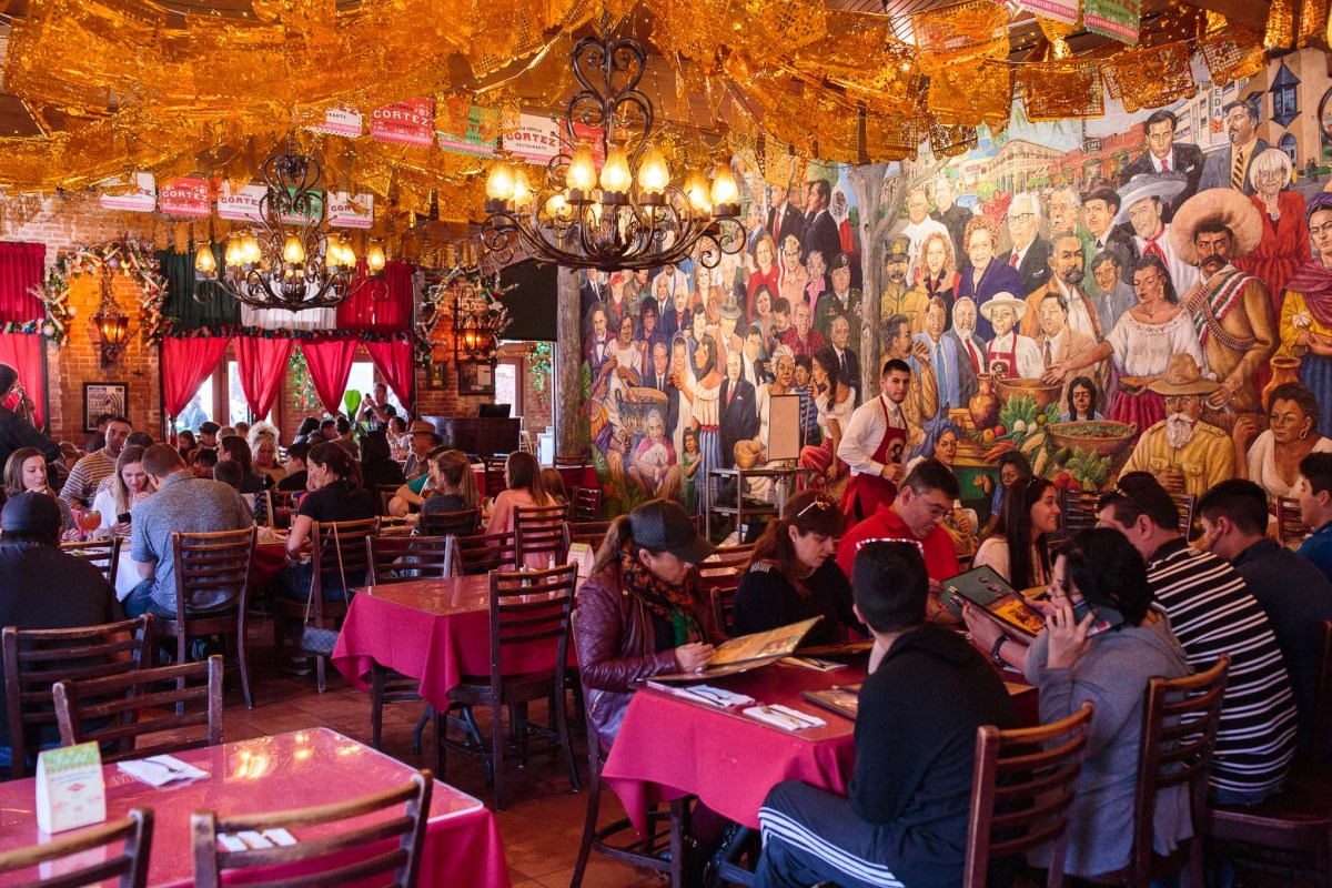 Just a portion of the work that muralist Robert Ytuarte has completed at Mi Tierra Cafe y Panaderia.