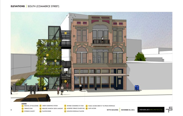Rendering of a proposed street view of the Witte Building.