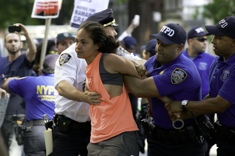 Silent protest against the New York Police Department's stop-and-frisk policy, June 2012.
