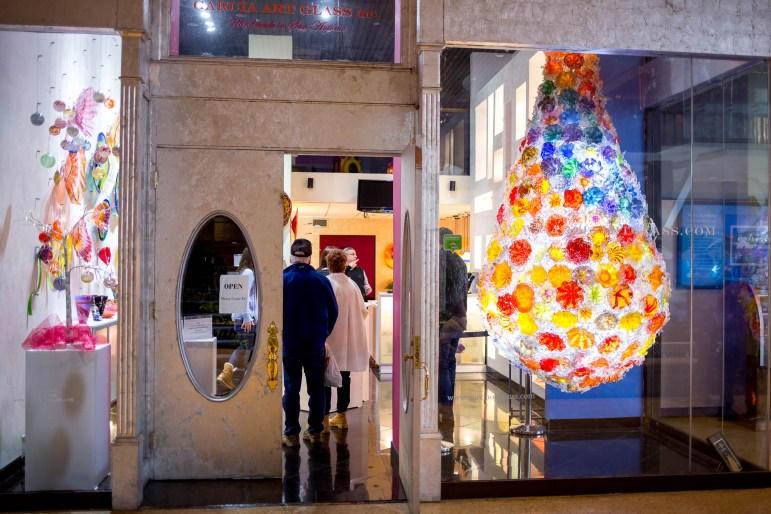 The Garcia Art Glass gallery in the Hyatt Riverwalk Hotel.