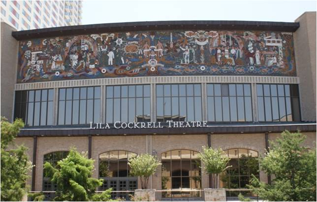 """Juan O'Gorman's """"A Confluence of Civilizations"""" at the Lila Cockrell Theatre."""