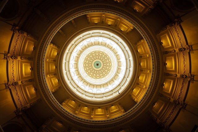 The Texas State Capitol Building in Austin Texas.