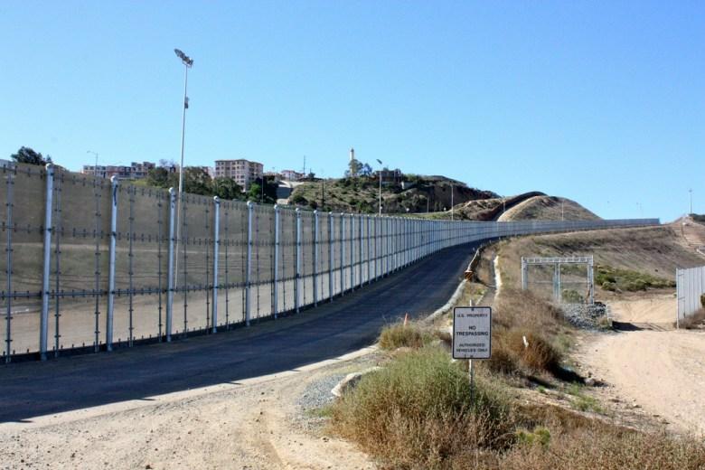 US-Mexico border in San Diego California.