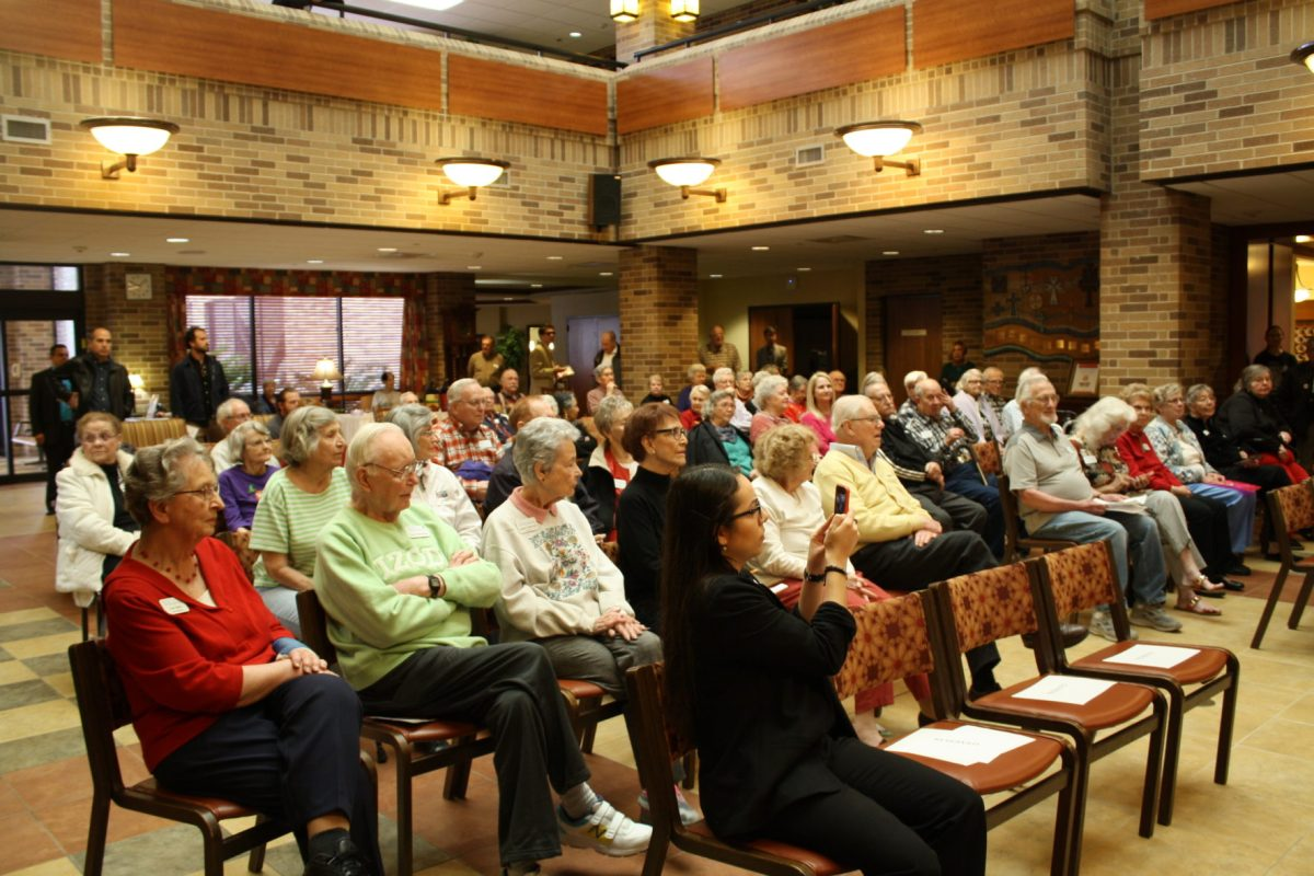 More than 50 senior citizens convened at Morningside Ministries at The Meadows to listen to mayoral candidates.