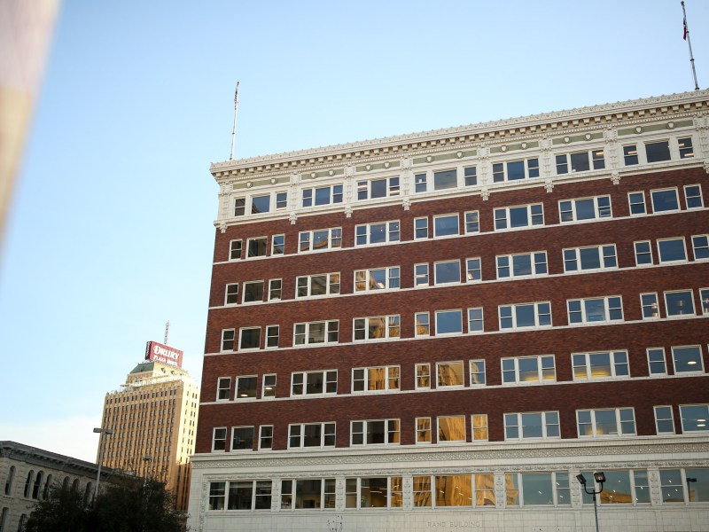 The Rivard Report offices located inside the historic Rand Building.