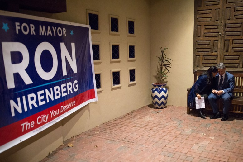 Ron Nirenberg with his wife Erika Prosper Nirenberg at a recent campaign fundraiser.