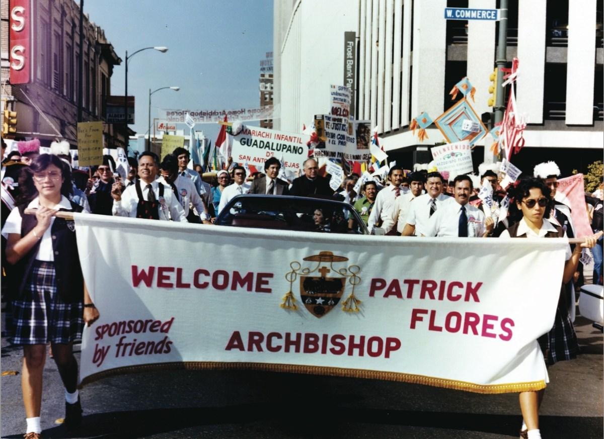 """San Antonians welcomed Archbishop Patricio """"Patrick"""" Fernandez Flores to the city in 1979."""