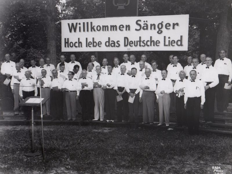 The Beethoven Maennerchor at Houston Saengerbund in 1953.