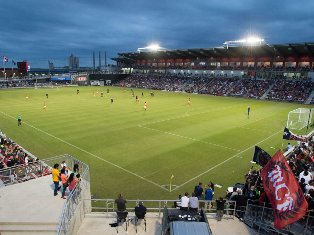 Image made during a USL soccer match between the Swope Park Rangers and San Antonio FC, Saturday, April 9, 2016, in San Antonio. The final score was 1-1. (William Abate/USL)