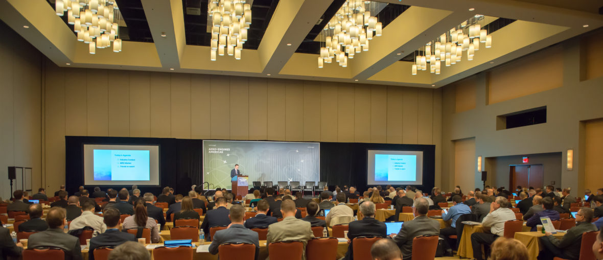 More than 300 members of the global aviation industry attended the 2017 Aero-Engines Americas Conference at the Grand Hyatt on Feb.2, 2017.