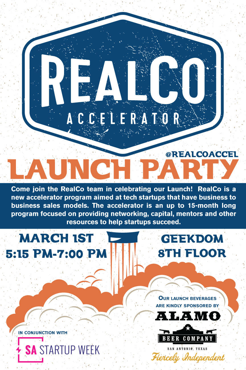 RealCo Accelerator is now open on Geekdom's 8th floor.