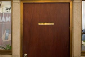 The door to the Mexican Consul General of San Antonio.