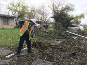 Crews begin cleaning up Northside neighborhoods after the storms.