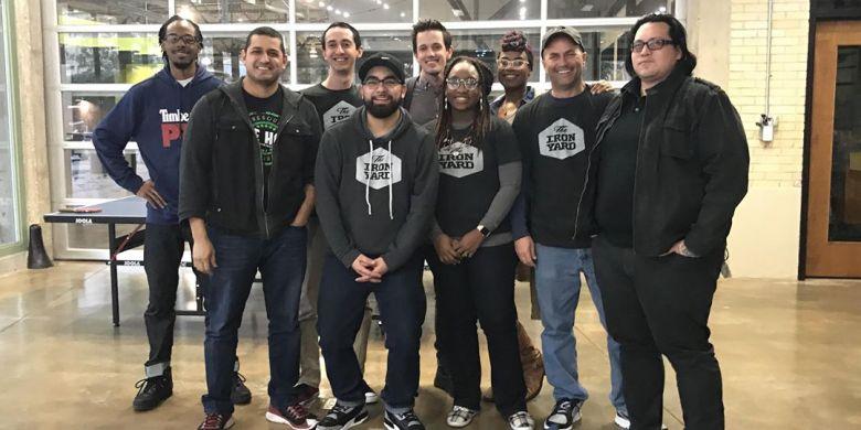 The Iron Yard San Antonio 2017 cohort and Jason Vanderslice (back middle).