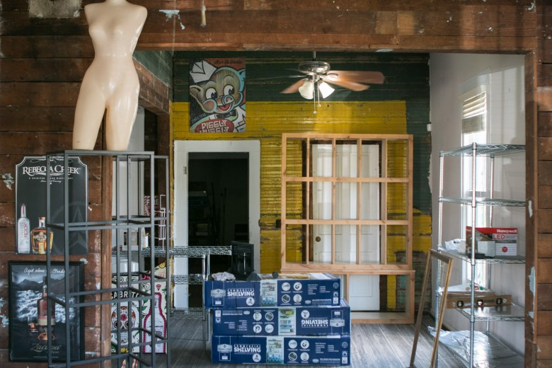 The interior of the new Pig Liquors location will be complete in a few weeks.