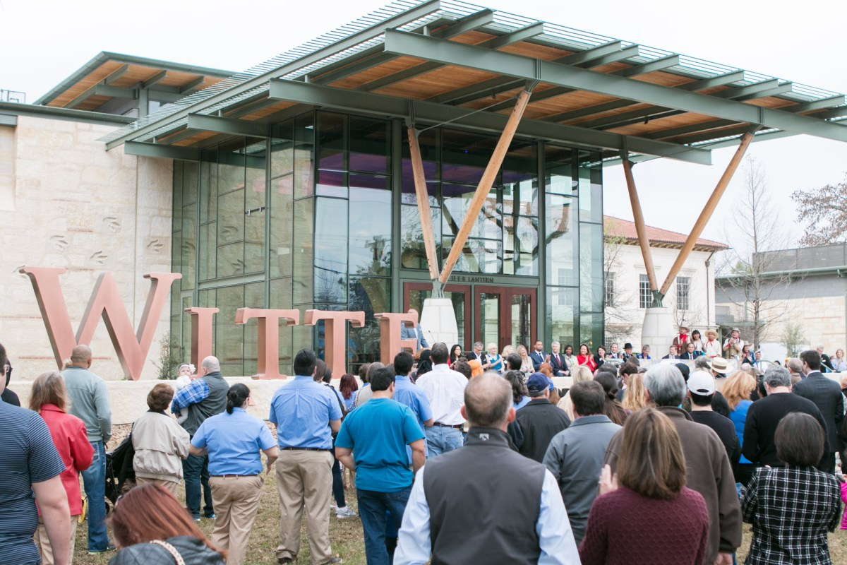 A large crowd gathers to attend the grand debut of the New Witte on March 4.