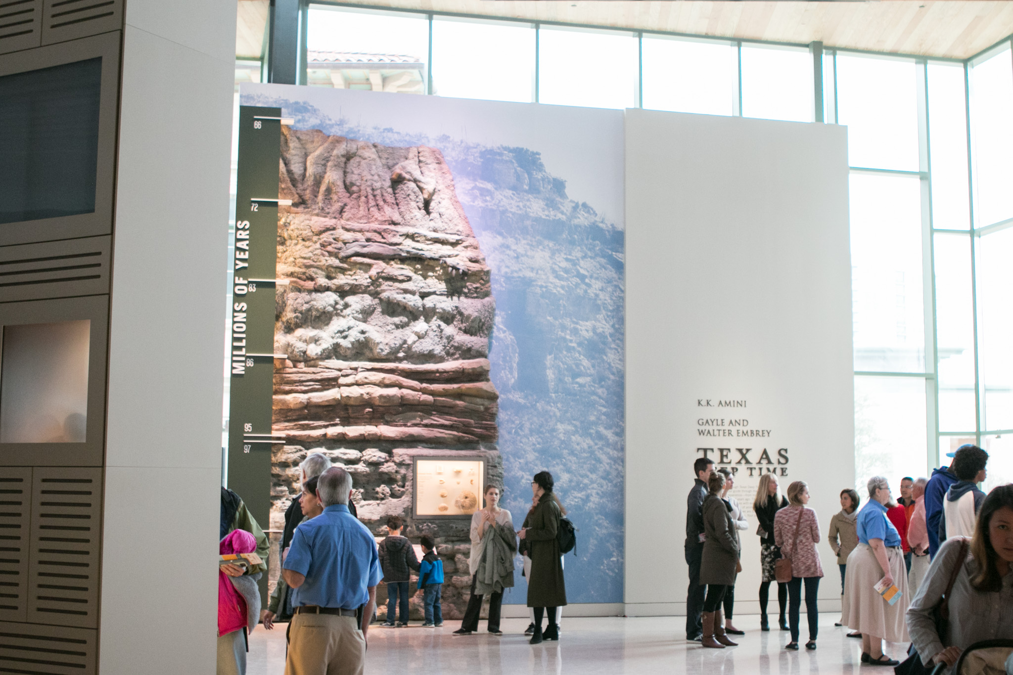 Crowds gather inside to look at exhibits at the grand debut of the New Witte on March 4.