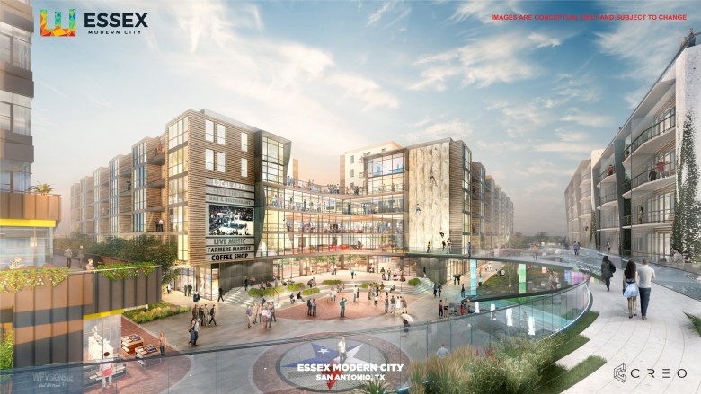 Plans for Essex Modern City include condos, apartments, retail, office and other commercial space.