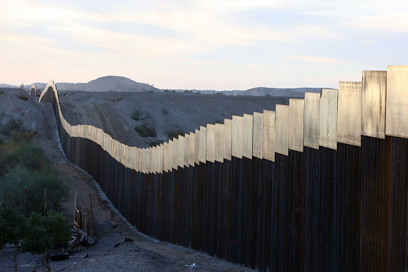 US BORDER Fence as seen from Mexico.