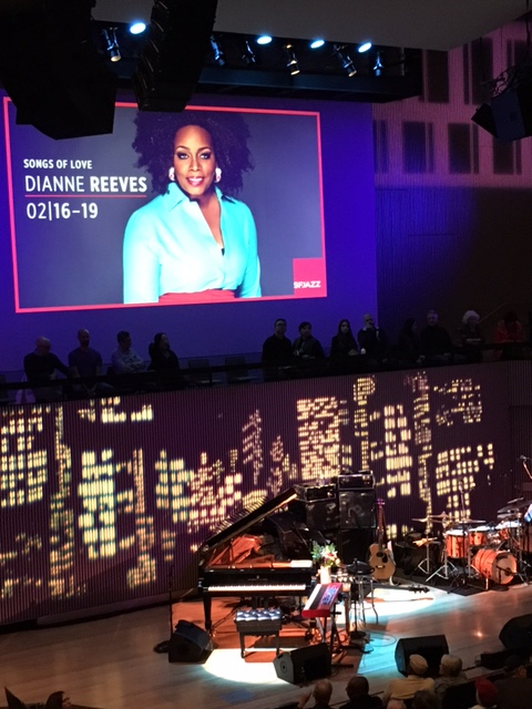 We saw Dianne Reeves in concert at the San Francisco Jazz Center.