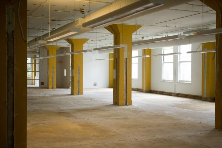 An empty floor in the Burns Building.