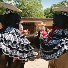 Escaramuzas wait to perform at A Day in Old Mexico & Charreada.
