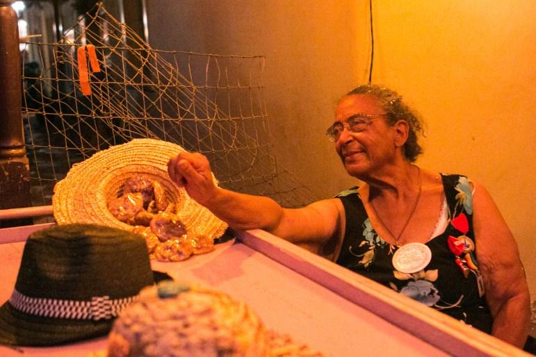 Nettie Hinton sells pralenes at NIOSA.