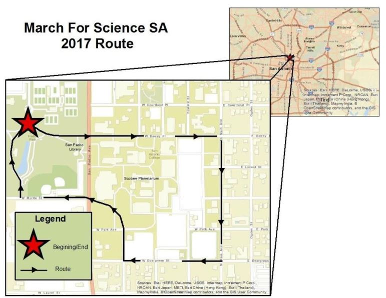San Antonio's March for Science will start 10 a.m. in San Pedro Park.