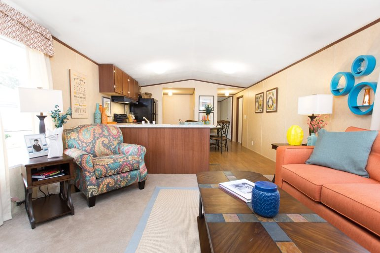 interior of a Braustin mobile home