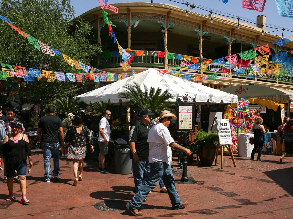 Market Square during Fiesta.