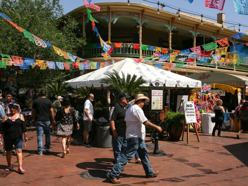 Market Square during Fiesta.