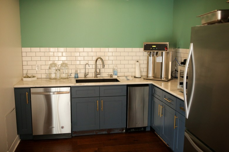 A fully equipped kitchen at the Impact Guild.