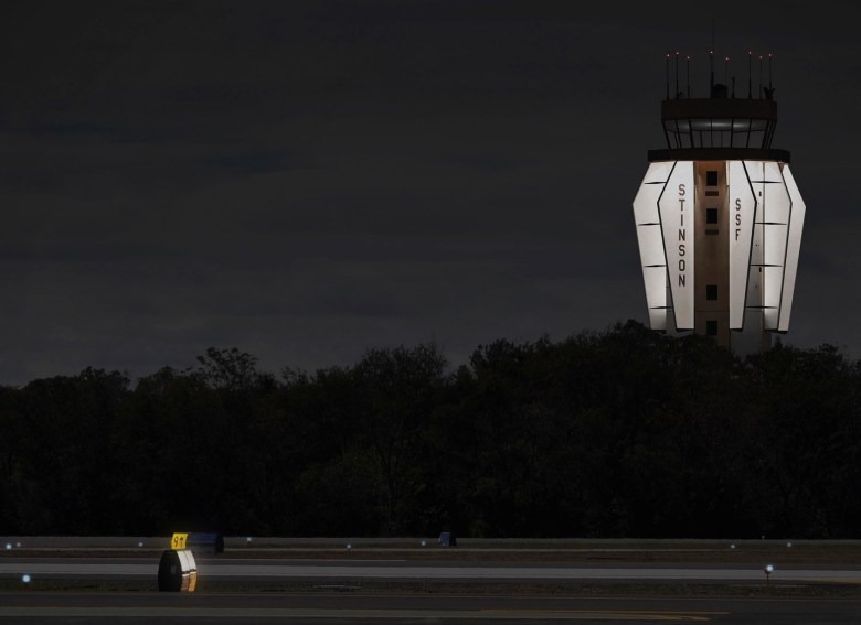 A rendering of the Wings Over Stinson project at night.