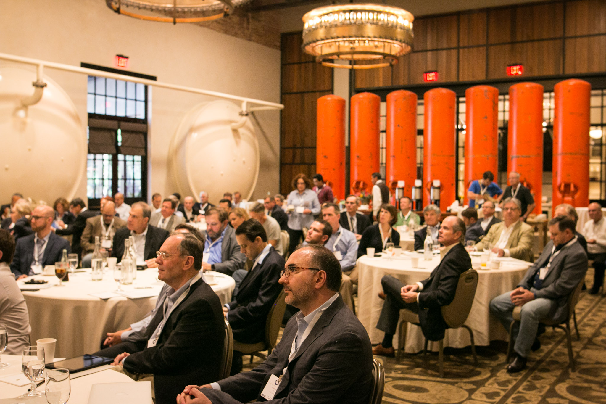 A large audience gathers at the 2017 Alliance of Texas Angel Networks Summit at the Hotel Emma.