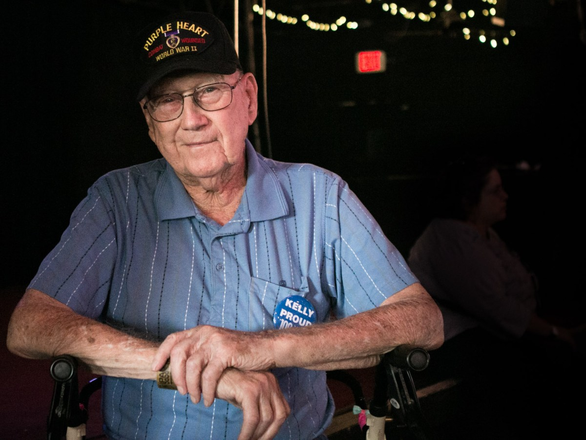 Joe Glawson enjoys his time in John T. Floore's Country Store in Helotes for a reunion to celebrate 100 years since the birth of Kelly Field.