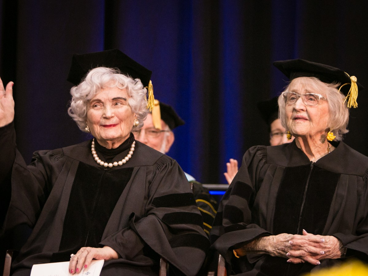 From left, Lila Cockrell and Rosemary Kowalski.