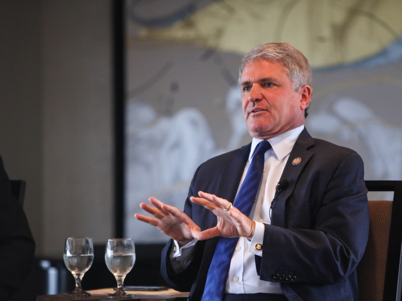 Congressman Michael McCaul (R-Texas) speaks at bipartisan panel at the Frost Bank in downtown San Antonio.