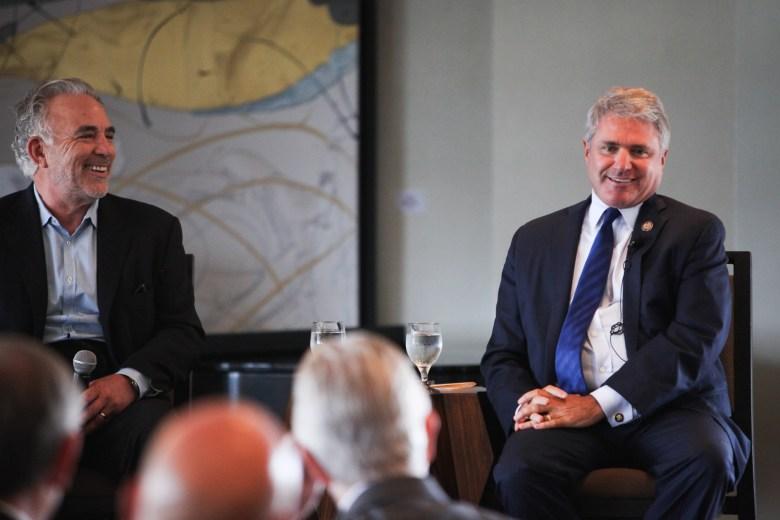 Congressman Michael McCaul (R-Texas) speaks at bipartisan panel at the Frost Bank in downtown San Antonio.