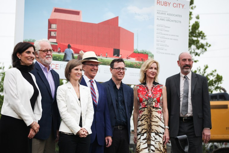 Linda Pace Foundation Trustees and community leaders announce the groundbreaking new structure of Ruby City.