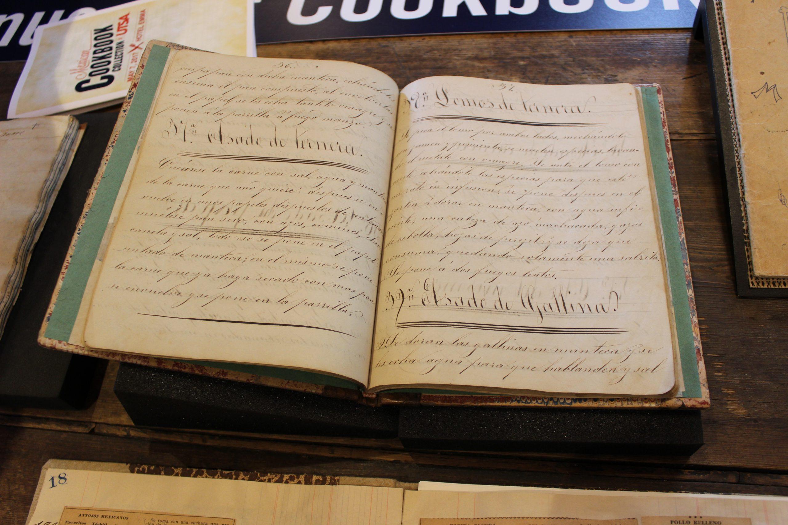 Many older cookbooks were handwritten in repurposed notebooks