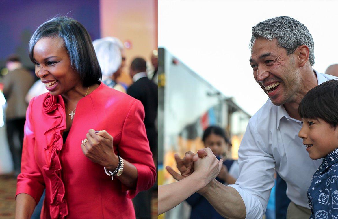 Councilman Ron Nirenberg (left) and Mayor Ivy Taylor (right) will be entering a runoff election to decide the next San Antonio mayor on June 10th.