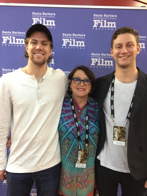 """""""Seven Dates With Death"""" Cinematographer Garrett Nicholson, Executive Producer Joan Cheever and Director/Producer Mike Holland at the Santa Barbara International Film Festival on Feb. 7, 2017."""