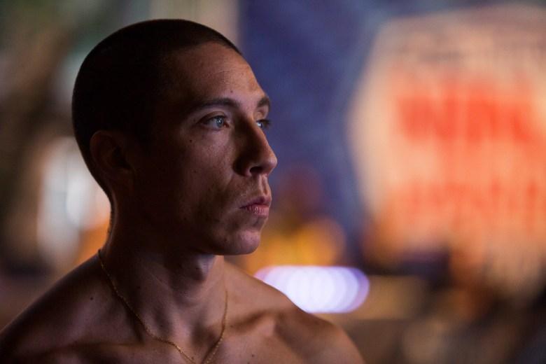 Lufe Torre prepares to compete during American Ninja Warrior.